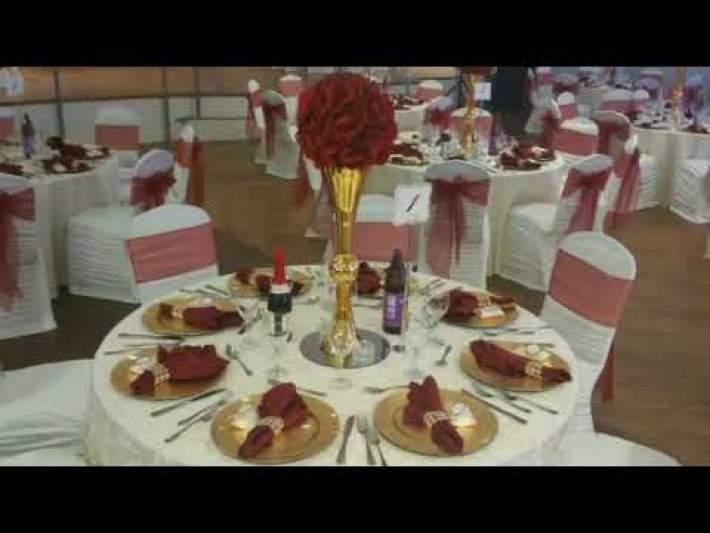 Wedding Setup At Symphony Banquet Hall & Event Centre Mississauga Canada