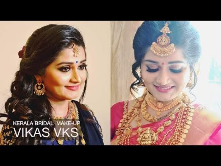 Kerala Traditional Bridal Makeup I Bride and Groom I Vikas Vks  | Wedding and Reception Looks