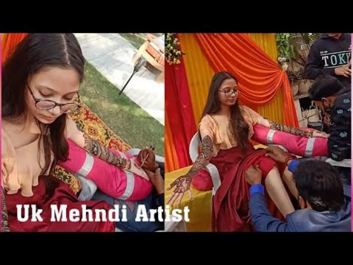 How To Put Bridal Mehndi Bridal Mehndi Design  Uk Mehndi Artist Uk Mehandi Mehndi Design