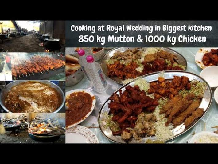 Exploring Cooking For 9000 People in Royal Wedding | Hyderabadi Wedding | Biggest Kitchen in Hyd
