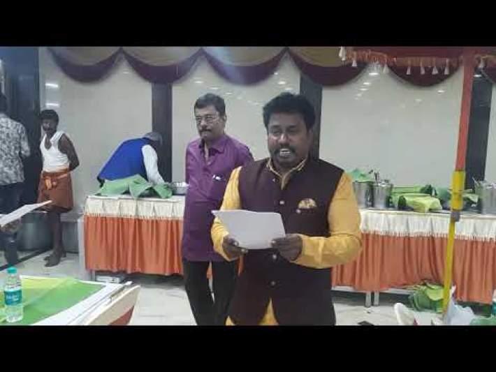 VENUS CATERING 9840935064 WEDDING  RECEPTION DINNER MENU jan 2020 VENUS OWNER BRIEFING