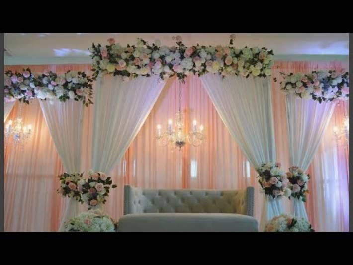 DIY: Multiple Backdrop Stage Decor  Diy-Wedding Decor