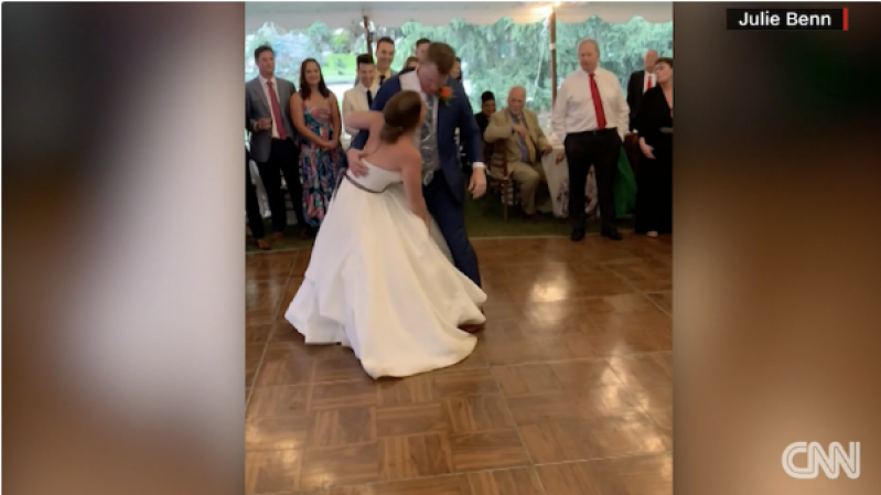 Bride in Pennsylvania dislocates knee during first dance at wedding