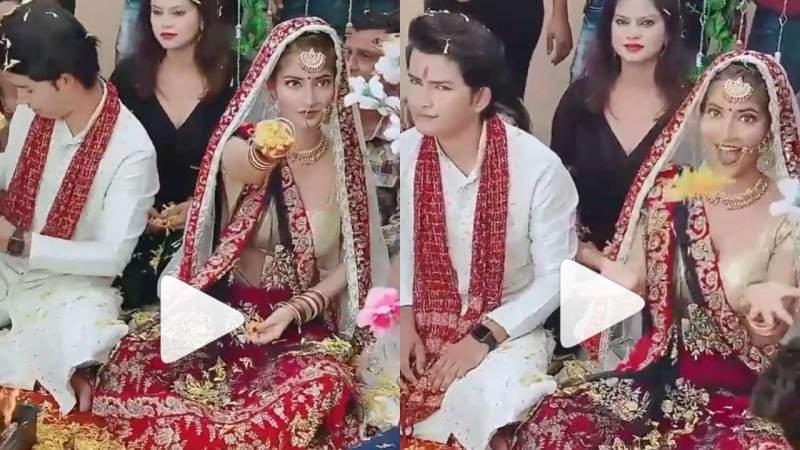Bride throws flowers at wedding mandap leaves guests shocked