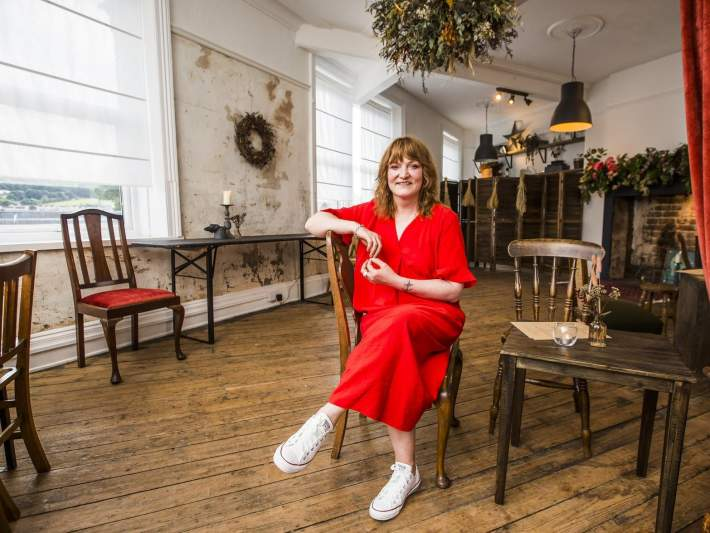 Intimate wedding venue above florist's shop in Mirfield holds first event