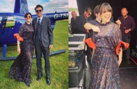 It's print fashion for Imelda May at friend's wedding