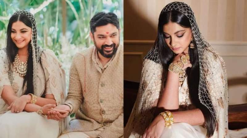 Why Rhea Kapoor chose white chanderi sari with pearl veil for her wedding with Karan Boolani?