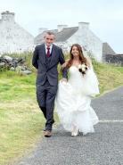 Couple celebrates wedding 'overseas