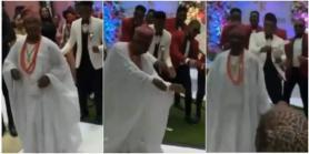 Groom's dad lights up dance floor with amazing dance moves, thrills guests