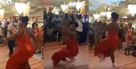 Video of Ghanaian Lady Dancing with intense Energy at A Wedding Goes Viral