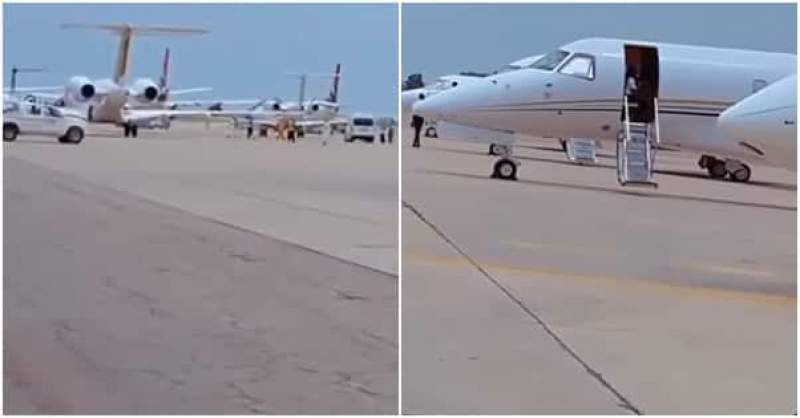 Over 25 Private Jets Take Over Airport During Buhari's Son Wedding