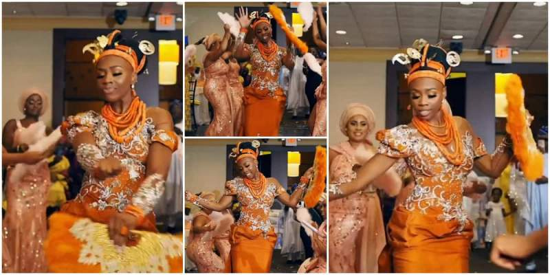 Cute Bride on Native Steals Show at Her Wedding with Amazing Shaku Shaku and Waist Dance Moves in Video