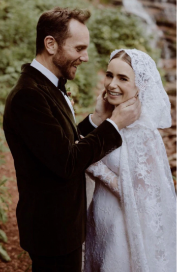 Emily in Paris star Lily Collins has 'fairytale' wedding ceremony