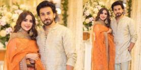 Saboor, Ali make a statement appearance at Minal-Ahsan's wedding