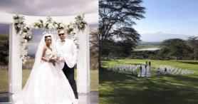 Anita Nderu and Her Mzungu Man Barrett Raftery Hold Lovely White Wedding in Nanyuki