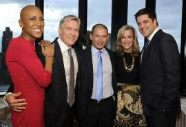 Robin Roberts is radiant in red at 'Good Morning America' pal Sam Champion's wedding