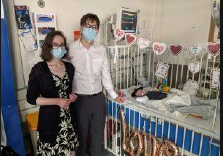 Couple get wedding surprise from sick son at Bolton's neo-natal unit