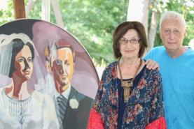 Local artist celebrates 50th wedding anniversary, local art community with family of Bradford grads