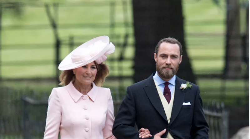 James Middleton's bride wore mother-in-law Carole Middleton's wedding dress
