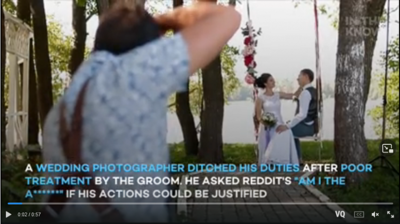 Wedding photographer stunned by groom's 'horrible' wedding day behavior: 'They really took advantage of you'