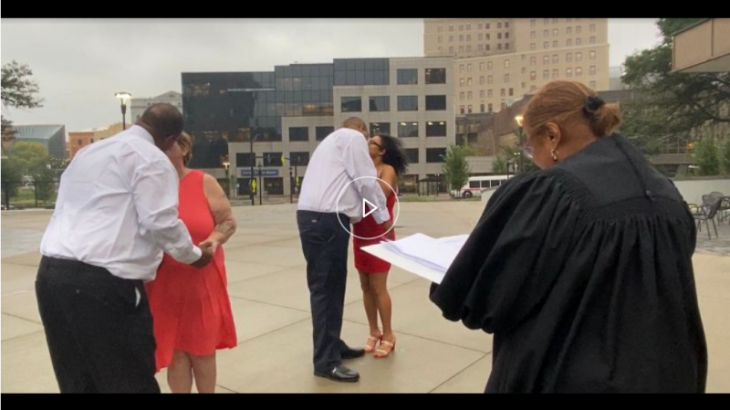 Akron Municipal Court hosts double wedding for father and son