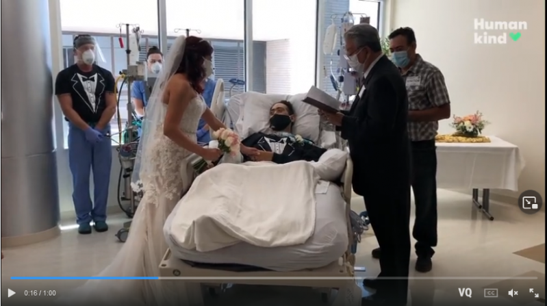 This couple faced COVID-19, visa issues and cancer. They finally reunited with a secret wedding