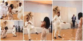 Bride's dad steals the show at wedding with lit dance moves, video wows many