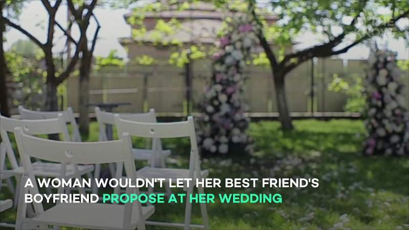 Bride-to-be stunned by friend's request to propose at her wedding