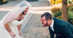 Bride delivers sweet surprise for groom on wedding day; many in stitches