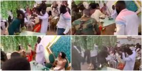 Drama at Wedding Reception as Groom Abandons Bride to Dance Hard with Another Lady, Video Causes Stir