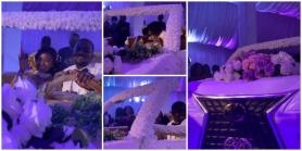 Couple Use Big Beautiful White Car Cake for Their Wedding, Seat and Share Kiss in it in Cute Video