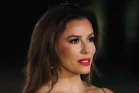 Eva Longoria Finds the Perfect Fall Wedding Dress in an Off-the-Shoulder Floral Gown