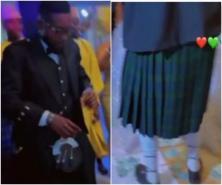 Nigerians In Shock As Man Storms His Wedding In Skirt
